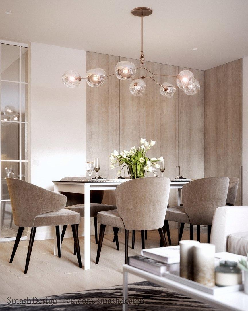 Дизайн обеденной зоны в квартире