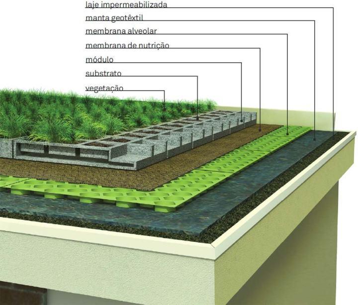 Больше зеленого цвета с садом на крыше