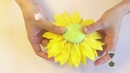 Dạy làm hoa đất sét cành hướng dương hoàn chỉnh dạy cách phủ lông tơ thân cành