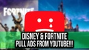 Disney Fortnite both pull ads on YouTube YouTubeWakeUp