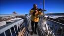 Play Violin at Peak Walk Glacier 3000 Les Diablerets