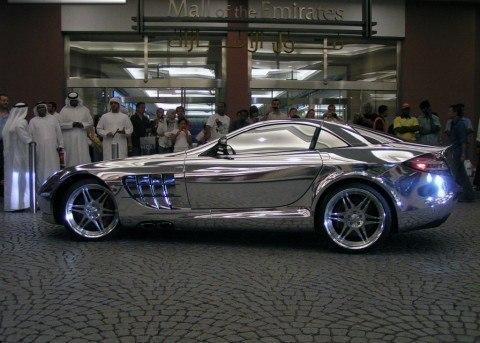 Автомобиль созданный из белого золота для нефтяного миллиардера из города Абу-Даби, Mercedes V10 Quad Turbo, 1600 лошадиных сил, разгоняется до сотни менее чем за 2 секунды