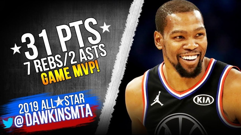 Kevin Durant Full Highlights in 2019 All-Star Game - 31 Pts, Game MVP! | FreeDawkins