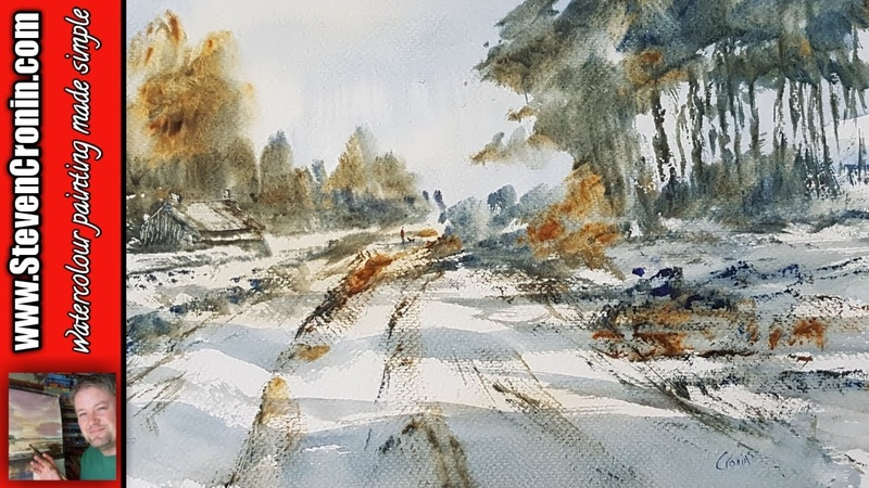 Snow in the Village Watercolour Painting Tutorial