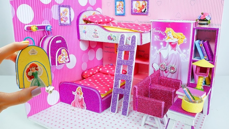 DIY Miniature Dollhouse Room ~ Rapunzel Room Decor Backpack