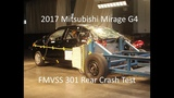 2015-2019 Mitsubishi Mirage G4Dodge Attitude FMVSS 301 Rear Crash Test (50 Mph)