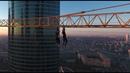 Philip Marvin Extreme Roofing. Hanging on a Cr   Руферы пробрались на Москва-Сити. Зацеп на Кране