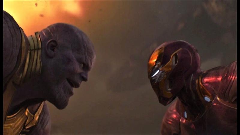 Железный человек против Таноса | Мстители: Война бесконечности (2018)