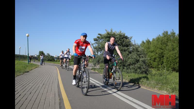 Объезд велотрассы в Минске