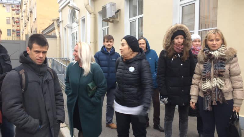 «Зеленая коалиция» у стен Смольного. 6.11.2018
