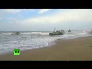 Морская пехота ВМФ отработала высадку на сирийское побережье