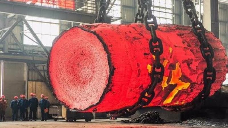 Dangerous Biggest Heavy Duty Hammer Forging Process, Fastest Hydraulic Steel Forging Machine