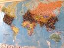 Вот такая милая карта висит на стене в одном из ресторанов Калифорнии.