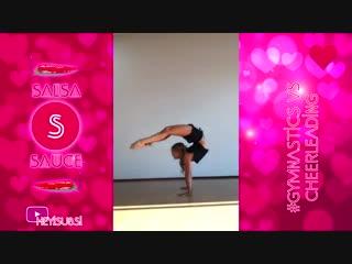Sls cheerleading vs gymnastics and contortion _ best gymnasts skills battle