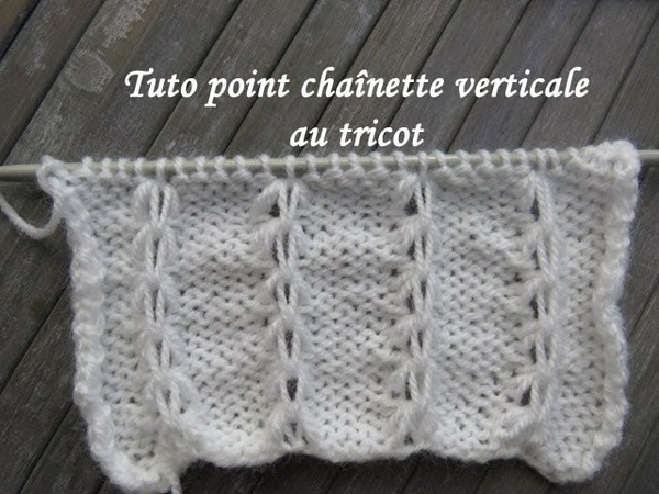 TUTO POINT CHAINETTE VERTICALE AU TRICOT Easy stitch knitting PUNTO DOS AGUJAS