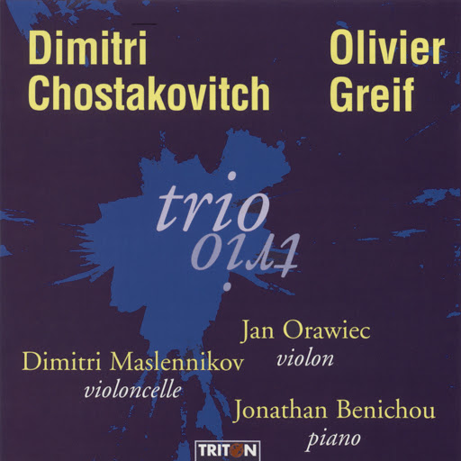 Trio альбом Shostakovich: Trio No. 2, Op. 67 & Olivier Greif: Trio