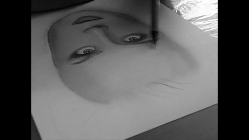 портрет простым карандашом. Полина Гагарина
