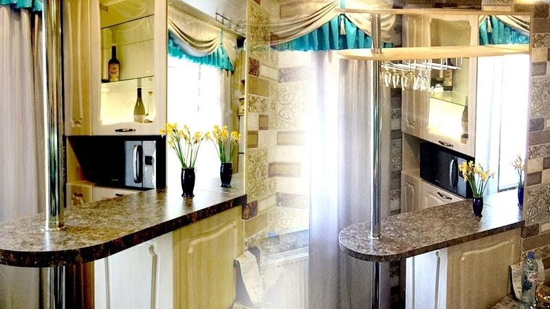 ✅ Барная стойка для кухни 💎Дизайн кухонного гарнитура с барной стойкой в маленькой кухне на заказ