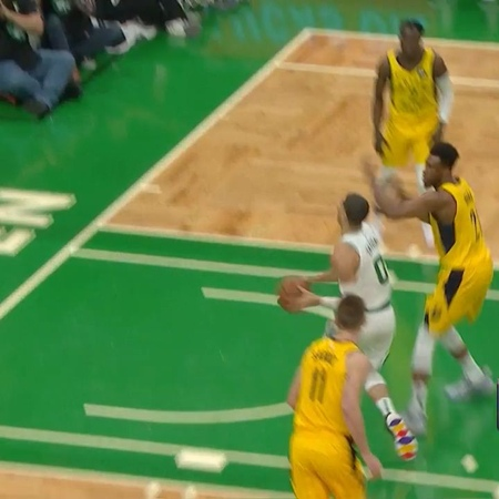 "Boston Celtics on Instagram: ""Tatum with the crafty move to the bucket!"""