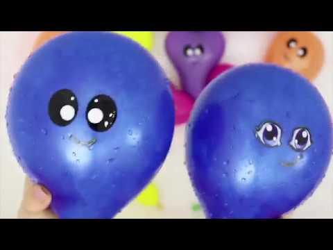 Изучаем цвета Лопаем воздушные шарики с водой Поем песенку