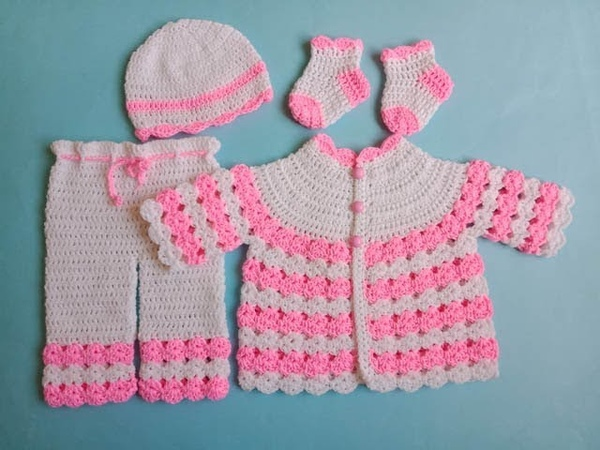 How to Make Easy Cardigan SweaterEasy Baby Set