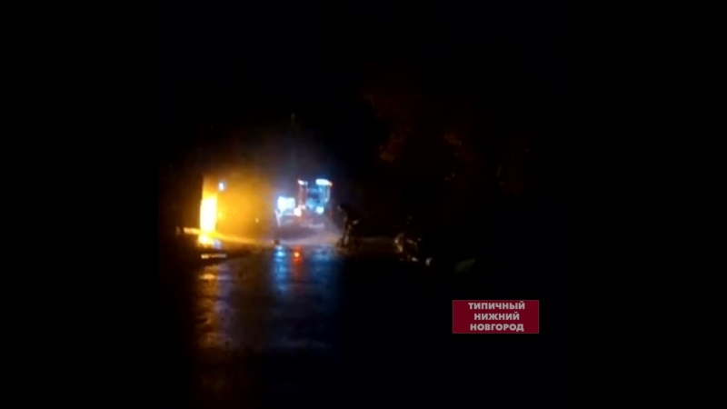 У пожарных порвался рукав во время тушения - Типичный Нижний Новгород