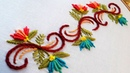 Hand embroidery designs border line tutorial by nakshi katha