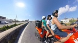 "Hrithik Roshan on Instagram: ""2 boys and a man on a giant bike. That's how we move. #summerinsantorini #greece #exploreeverywhere #dontjustexist #b..."
