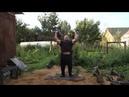 Вадим Ищейкин парный силовой рывок с трёхпудовыми гирями 49 49 кг дужки 45 и 40 мм 4 3 раза