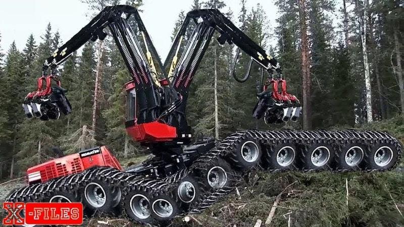 Xem công nghệ khai thác gỗ của người ta....