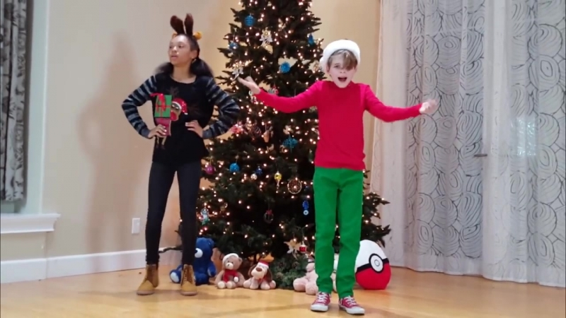 Happy Holidays - Christmas Dance - Santa Clause Is Coming to Town - Merrick Alanna