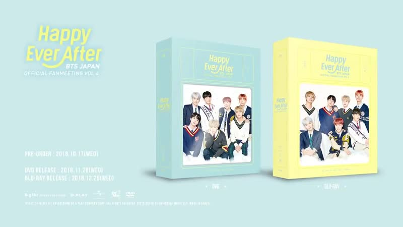 [PREVIEW] BTS JAPAN OFFICIAL FANMEETING VOL.4 _Happy Ever After_ DVD SPOT
