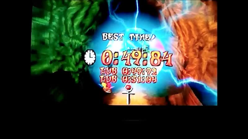 Crash Bandicoot 3: Warped (PAL). Time Trial.Dino Might!.49:84.PB.Extra life