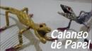 Calango ou Lagartixa de Papel Artesanato Feito a Mao Paper Gecko