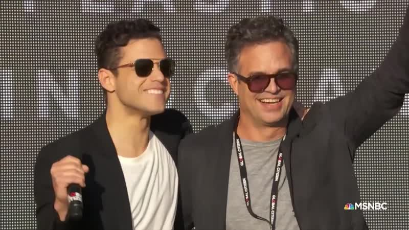 Mark Ruffalo and Rami Malek Call for an End to Plastic Pollution Global Citizen Festival NYC 2018