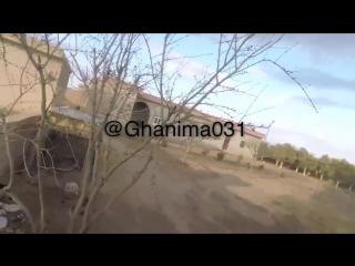 ВВС коалиции наносят удар по боевикам ИГ*(запрещено в России) в непосредственной близости от бойцов СДС во время боя у н.п. Диба