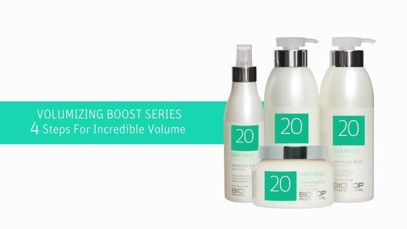 Правильное использование продукции Biotop 20 Volumizing Boost Series