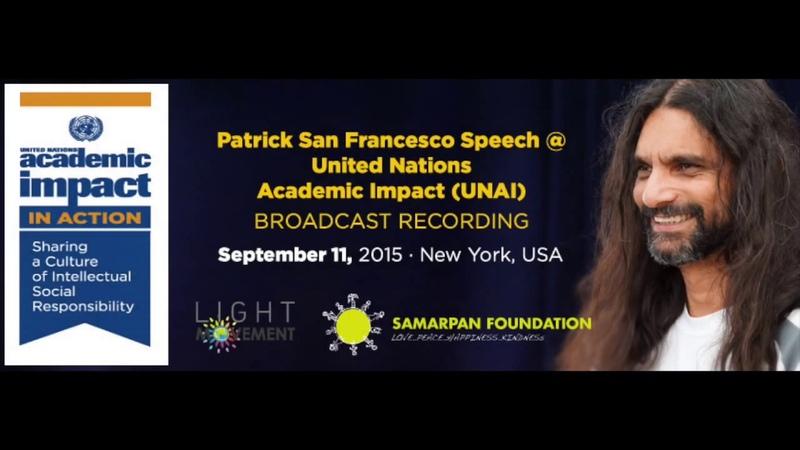 Patrick San Francesco at United Nations Academic Impact Symposium NY 11 Sep 2015