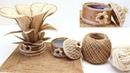 Органайзер Каменный Цветок из Джута Своими Руками Декор в Подарок