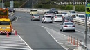 The cortege of Japanese Prime Minister Shinzo Abe leaves on the motorway