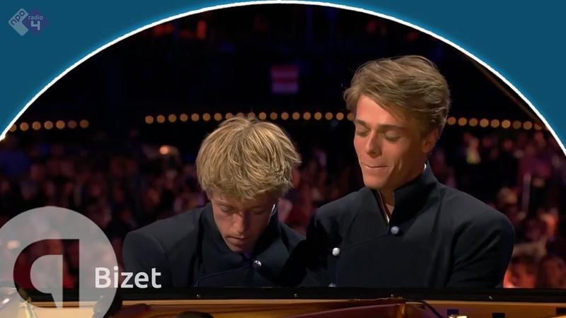 Bizet: Drie delen uit 'Jeux d'enfants, op.22' - Lucas en Arthur Jussen - Prinsengrachtconcert 2018