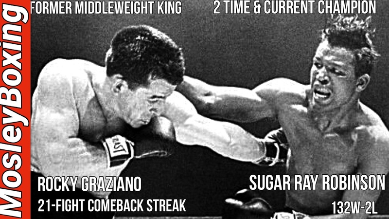 Sugar Ray ROBINSON vs. Rocky GRAZIANO | FULL FIGHT HIGHLIGHTS