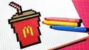 Handmade Pixel Art - How To Draw a mcdonalds drink pixelart