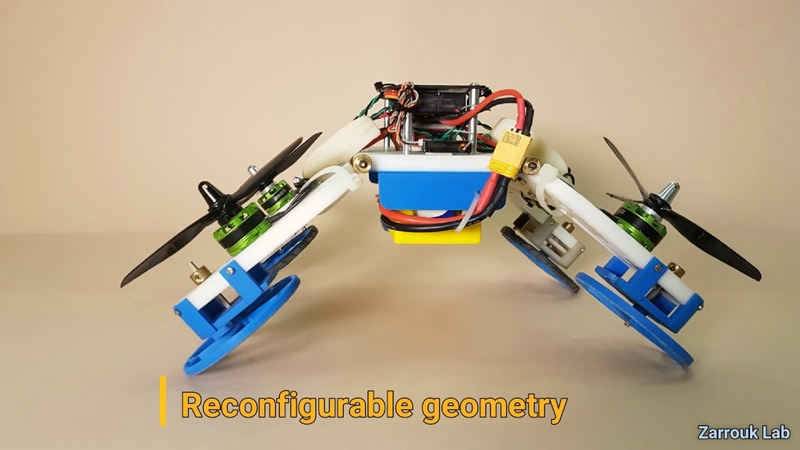 The Flying STAR robot a hybrid flying crawling quadcopter robot