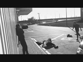 Видео с нападения на группу ХЛЕБ