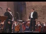 Лучиано Паваротти, Пласидо Доминго и Хосе Каррерас. Концерт в Риме, термы Каракаллы. 1990 год. Часть 1