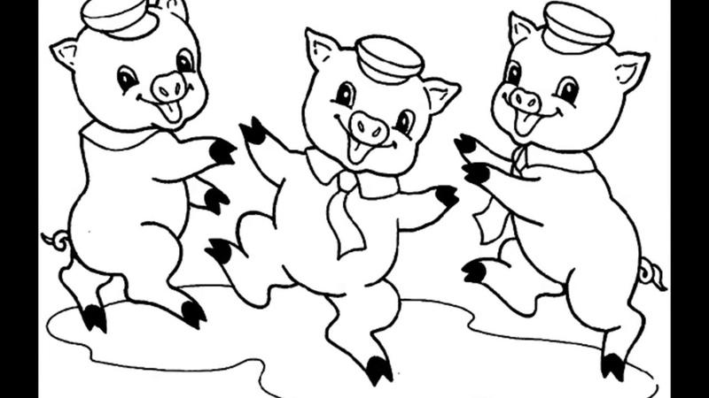 Вытынанки трафареты Свиньи символ Нового года 2019