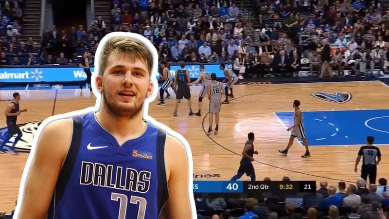 Luka Doncic finishes with a huge DUNK!   Mavs vs Spurs