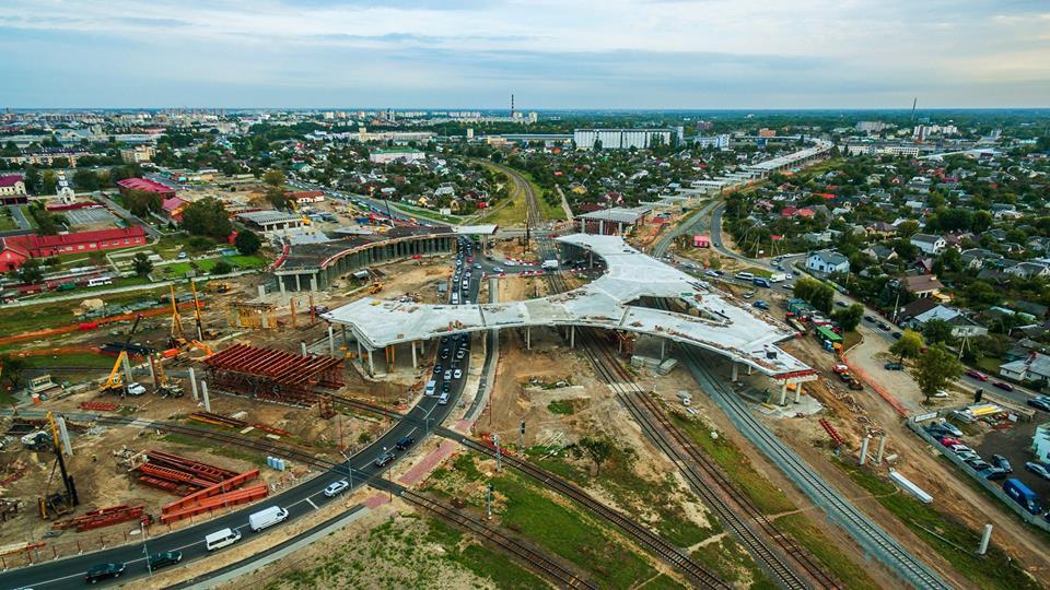 Брест, строительство Западного обхода, осень 2018 (масштабные и впечатляющие фото с высоты)