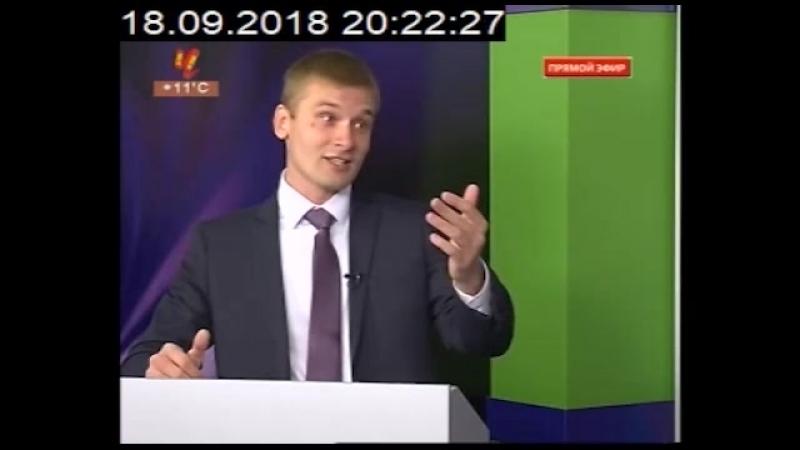 Дебаты Виктора Зимина и Валентина Коновалова 18 сентября в Черногорской студии РТС